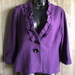 Classiques Entier Fitted Jacket Deep Purple SMALL